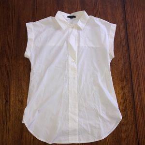 J.Crew short sleeve white shirt sz 2
